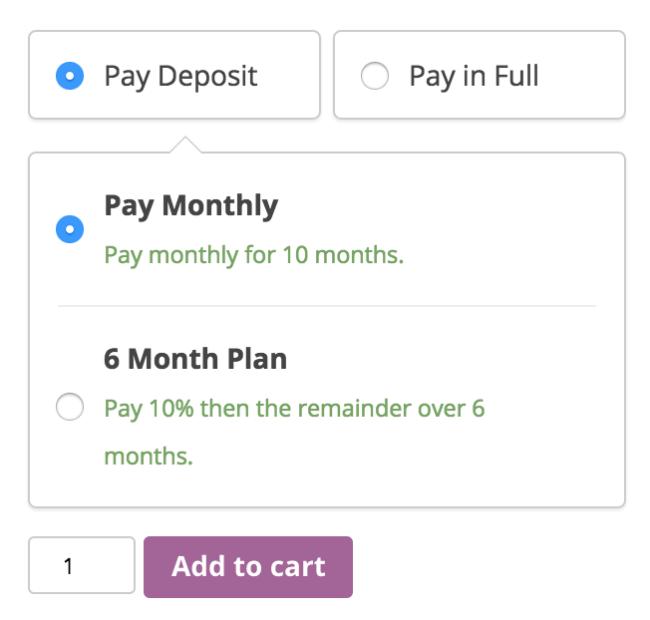 deposits-payment plan