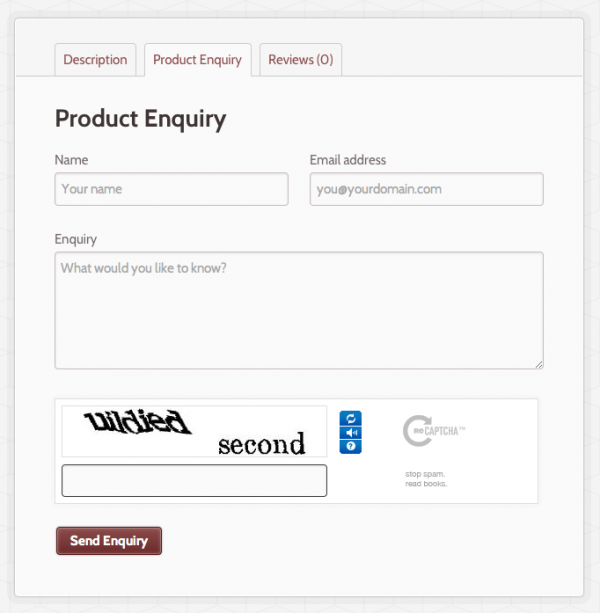 product-enquiry-form